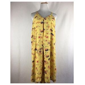 Lucy & Laurel Yellow Floral Spaghetti Strap Dress